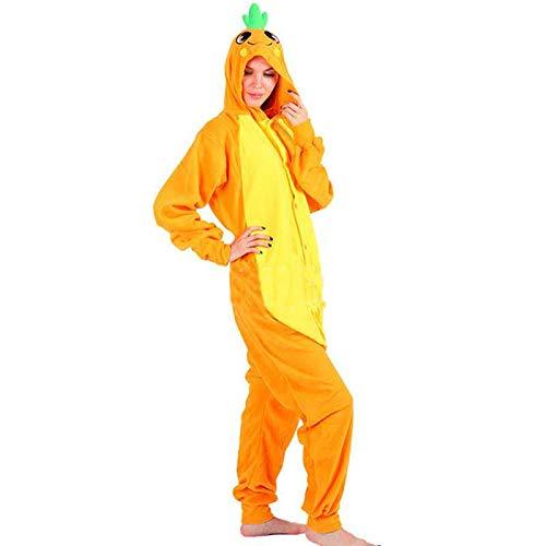 JIAWEIDAMAI Zanahoria Onesies Para Adultos Disfraces De Dibujos Animados Cosplay Pijamas Mono Ropa De Dormir Hombres…