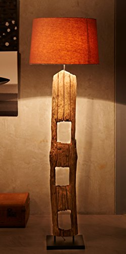 O'THENTIQUE Vintage Driftwood Farmpost Floor Lamp | Authentic Rustic Reclaimed Fence Pole Solid Distressed Wood Perfect for Coastal Nautical Style for Living Room, Farm, Beach House, Cabin by O'THENTIQUE