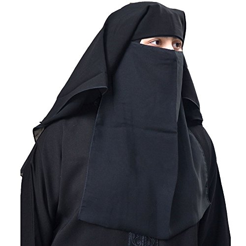 Niqab Hijab 4 Layer Black Fluttery Butterfly Saudi Face