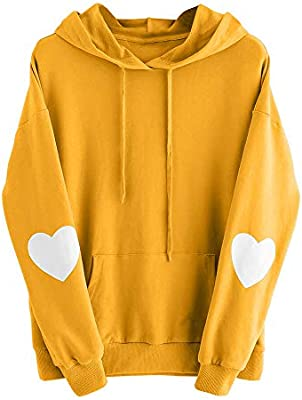 9290f195dc2 Women Hoodie Sweatshirt Daoroka Long Sleeve Plus Size Heart Pocket Jumper  Blouse Autumn Winter Tops  Amazon.com  Grocery   Gourmet Food