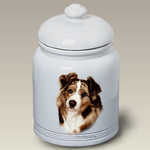 Australian Shepherd Red - Tamara Burnett Treat Jars (Shepherd Jar Treat)