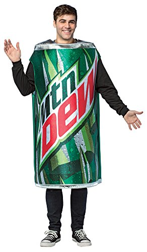 Mens Halloween Costume- Mountain Dew Get Real Can Adult -