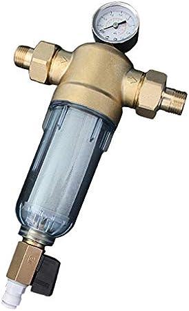 SNOWINSPRING Filtro de Agua Purificador Frontal Cobre Plomo ...