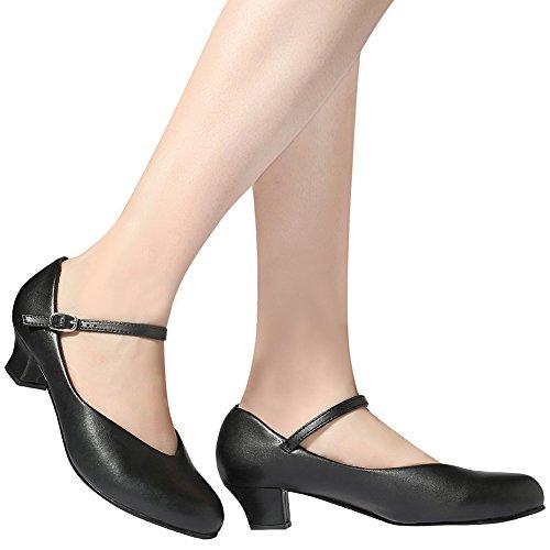 STELLE Women's Character 1.5'' Dance Shoes(Women/Big Kid) (8M, Black) by STELLE