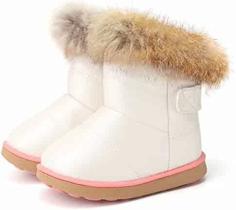 CIOR Snow Boots Toddlers Girls and Boys Winter Warm Fur Kids Outdoor Shoes
