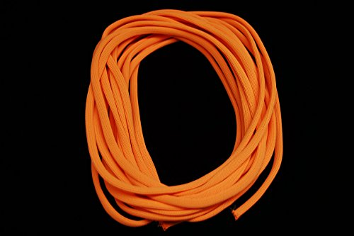 Blacklight Reactive Glo-Line Luminescent Roping- 25ft (Light Orange) (Orange And Black Halloween Colors Meaning)