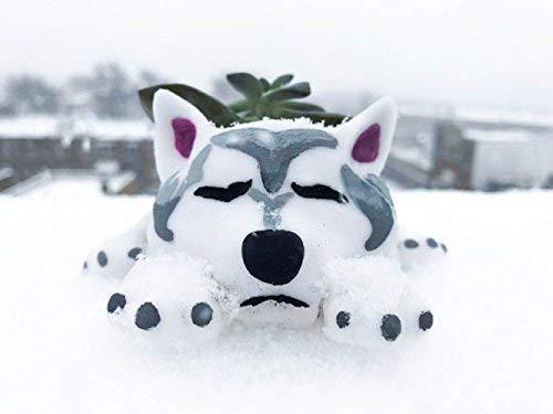 personalized gift Cute Siberian Husky Custom Husky Planter Christmas Gift Animal planter Dog Lover Christmas Gift Fathers Day gifts
