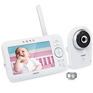 VTech VM351 Video Baby Monitor with Interchangeable Wide-Angle Optical Lens and Standard Optical Lens