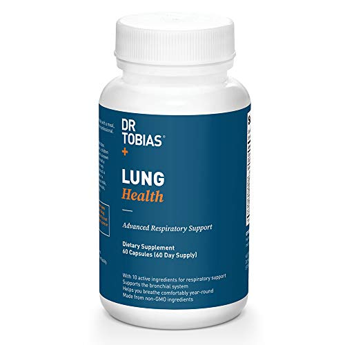 Dr Tobias Lung Health - Lung Cleanse & Detox for Respiratory Support (60 Count) (Best Medicine For Copd)