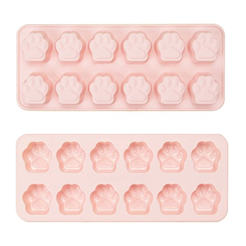 Paw Print Ice Cube Trays or Candy Mold Set of 2