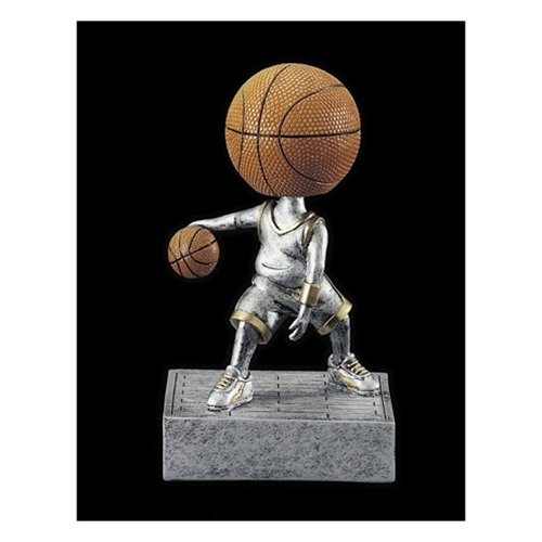 - Basketball Bobblehead Trophy with 3 lines of custom text