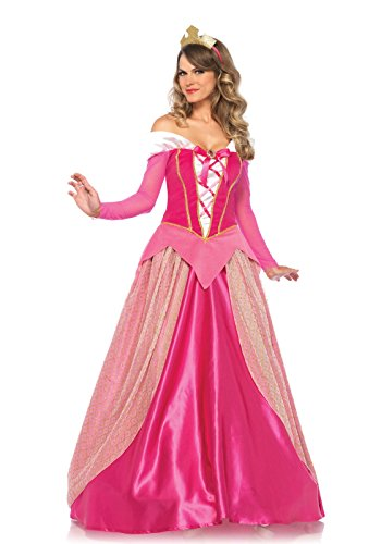 Disney Women's Princess Aurora Costume, Pink, Large (Halloween Costume Disney Princess)