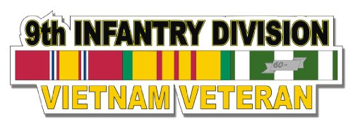 US Army 9th Infantry Division Vietnam Veteran Window Strip Decal Sticker 5.5