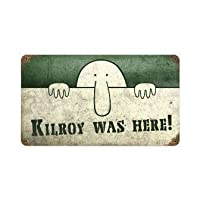 Past Time Signs PTS156 Kilroy Was Here Allied Military Vintage Metal Sign