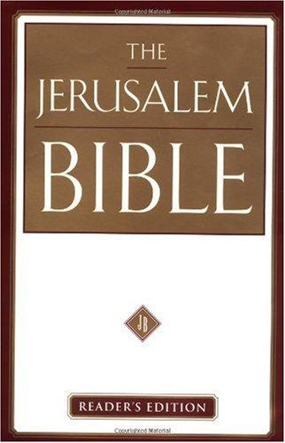 The Jerusalem Bible: Reader's Edition pdf