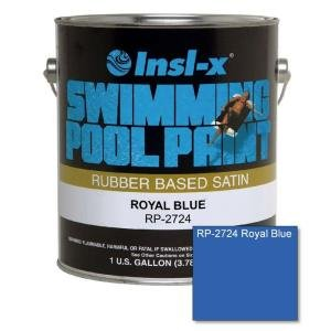 Insl-X Swimming Pool Paint Rubber Based Indoor, Outdoor Satin Royal Blue 1 (Royal Blue Pool)