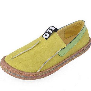 Botas de la mujer confort confort informal de verano tejido plano gris marrón verde Green