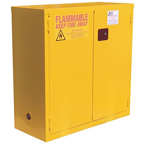 Flammable Cabinet, 28 Gallon, Manual Close Double Door, 34''W X 18''D X 44''H by Jamco Products