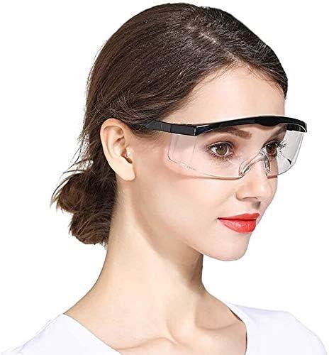 Claro Lente Gra Ajustable Quirúrgica Gafas Escudo Gafas Seguridad De Los Anteojos Protectores De Medicina Anti-Niebla Anteojos contra Salpicaduras De Líquidos