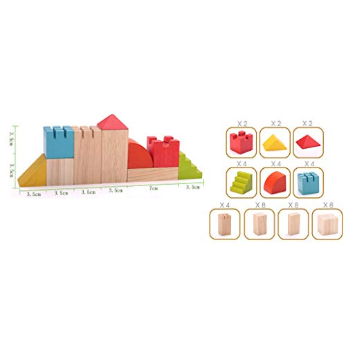 HXGL-Toys Wooden Toy Castle Children's Gift Early Education Puzzle 3-6 Years Old (Color : Multi-Colored) by HXGL-Toys (Image #7)