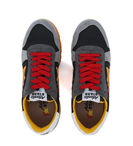 Nylon Grigio Stars in Sneaker Pelle e Atlantic Grigia Sirius 08zwzdq