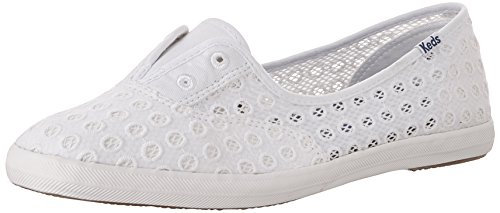 Keds Women's Chillax Mini Eyelet Mesh Fashion Sneaker, White, 6 M US (Eyelet White Name)