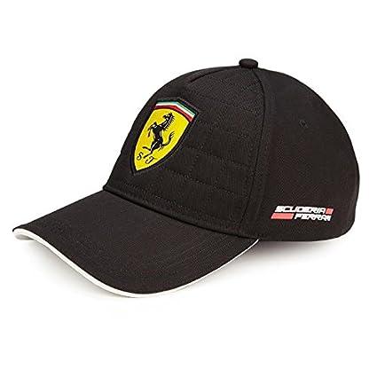 Gorra Ferrari acolchada negra: Amazon.es: Coche y moto