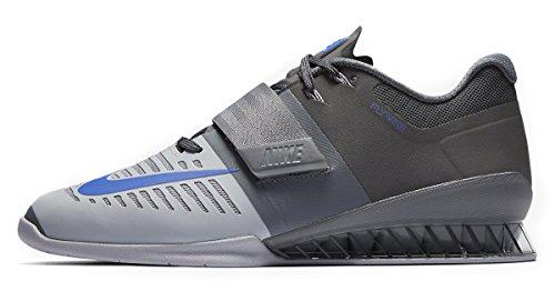 Nike Herren Romaleos 3 Gewichtheben Schuhe Grau Blau