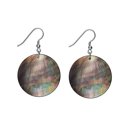 Large Round Mother of Pearl Dangle Drop Earrings for Women Girls -