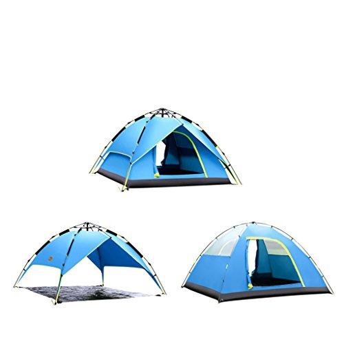 フランクワースリーズーム戻すYDYLZC- テント、防水個人2人3-4人オートフィールド屋外キャンプテント 柔らかい