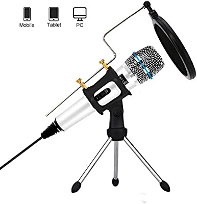 Professional Condenser Microphone Recording with Stand for PC Computer iPhone Phone Android Ipad Podcasting, Online Chatting Mini Microphones by XIAOKOA (M30-White) - 10124253 , B073DWHXJ1 , 285_B073DWHXJ1 , 660211 , Professional-Condenser-Microphone-Recording-with-Stand-for-PC-Computer-iPhone-Phone-Android-Ipad-Podcasting-Online-Chatting-Mini-Microphones-by-XIAOKOA-M30-White-285_B073DWHXJ1 , fado.vn , Professiona