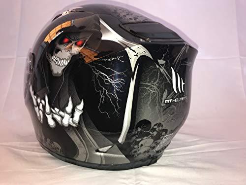 MT Helmets - Casco de motocicleta de cara completa con diseño de Revenge Grim Reaper