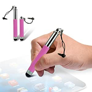 LG L90 Mini Retractable Adjustable Capacitive Stylus Touch Pen (Baby Pink) By Spyrox