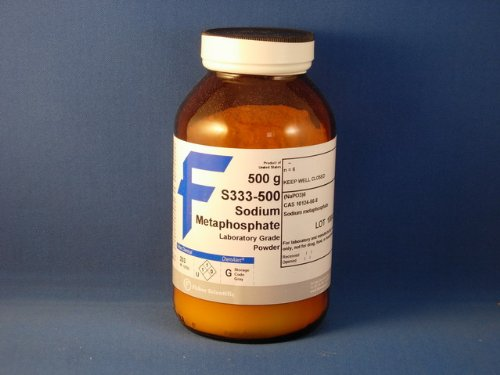 Sodium Metaphosphate (Hexametaphosphate, 66.5-68.0%) Powder (500 g)