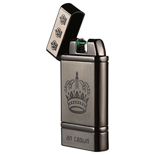 Kivors Rechargeable Photoelectric Sensor Lighter Dual Arc Plasma Electronic Lighter Windproof Cigarette Lighter, Crown