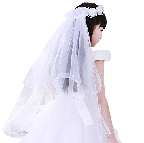 Ivory First Communion Veil - 9