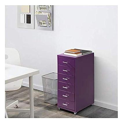 Büromöbel 28x69cm IKEA HELMER Schubladenelement auf Rollen; in schwarz: