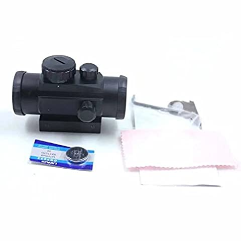 KingFurt US for RD1X30 Red Green Dot Laser Sight Scope with 2 covers 20 mm Weaver Pica Tinny (High Power Burning Laser Pointer)