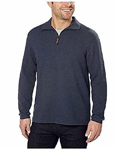 (Hudson River Men's Long Sleeve 1/4 Zip Pullover Sweater Midnight Heather Size S)
