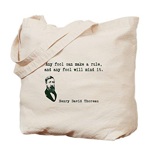 CafePress–Thoreau–Leinwand Natur Tasche, Reinigungstuch Einkaufstasche Tote S khaki