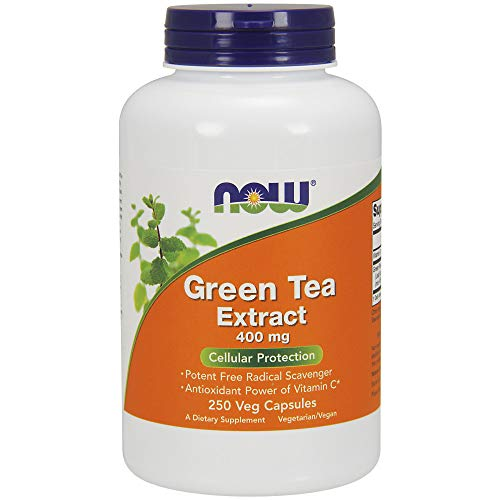 : NOW Supplements, Green Tea Extract 400 mg with Vitamin C, Cellular Protection*, 250 Veg Capsules