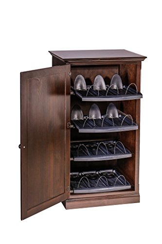 (Forest Designs Traditional Alder Media Storage with Wood Door: 25W x 45H x 21D 25w x 45h x 21d Whitewash Oak)