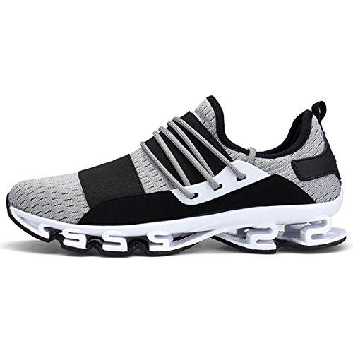 gris exteriores malla de deporte correr para transpirables Zapato hombre deportivas para para para Hoja 6 Zapatillas Zapatillas caminar de 6SnwnUpqa1