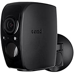 Tend Insights Lynx Pro - Indoor/Outdoor Weatherproof WiFi Security Camera with Battery Backup, Two Way Audio, Night Vision, and Included Cloud Storage, Black (TS0033)