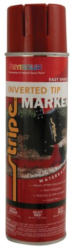 (Seymour 20-671 Stripe Inverted Tip Marker, Safety Red)