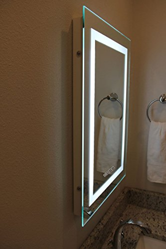 Dimmable LED Bordered Illuminated Mirror by Lighted Image (Image #5)
