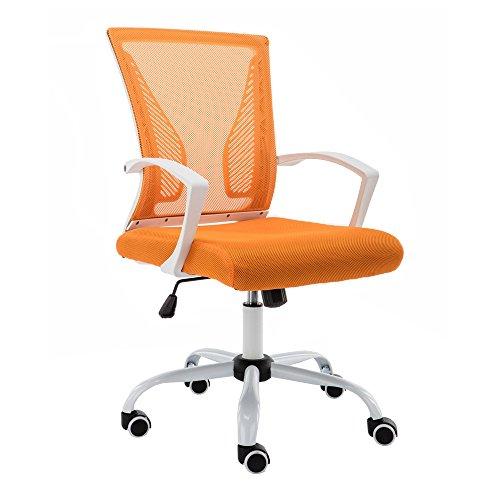 Chair Office Orange (Modern Home WHORANGE Zuna Mid - Back Office Chair White/Orange)