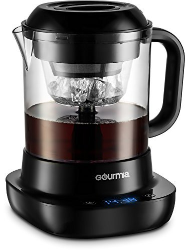 Gourmia GCM6850 New & Improved Automatic Cold Brew Coffee Maker - 4 Minutes Fast Brew - Patented Ice Chill Cycle - One Touch Digital - 4 Strength Selector - 4 Cups - 5W - Black