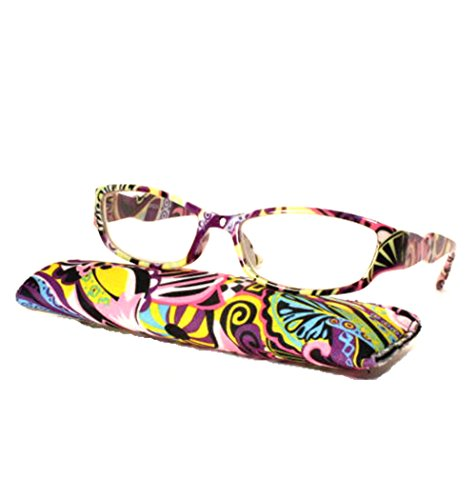 Transparent Colorful Painting Reading Glasses product image