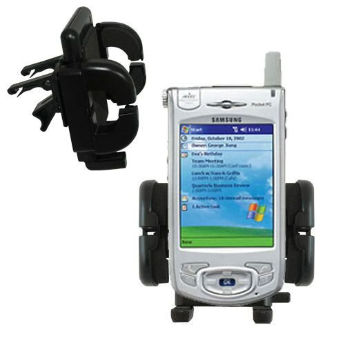 Gomadic Air Vent Clip Based Cradle Holder Car / Auto Mount suitable for the Samsung SPH-i700